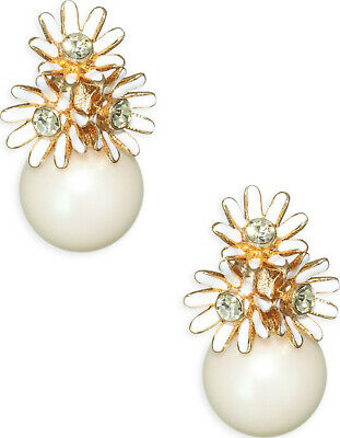 4cec0f713149c2 Kate Spade Love Me Love Me Not Earrings NWT Lovely Pearls Accented with  Daisies