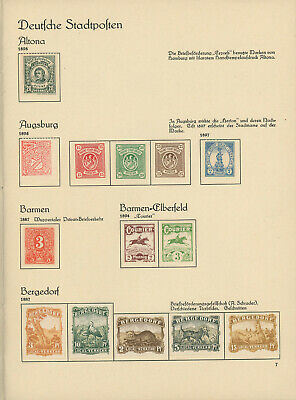 Germany late 1800s exceptional LOCAL CITY POST collection of 383 stamps M/U