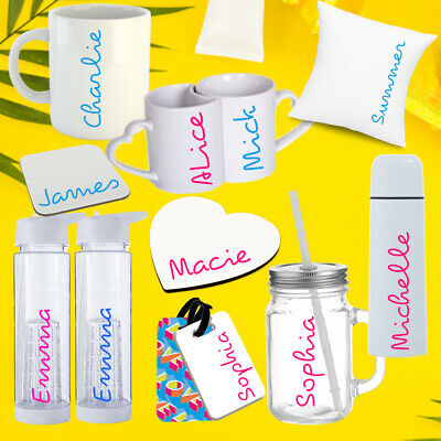 Personalised Water Bottle Island Inspired Luggage Gym Love Custom Gift Any Name