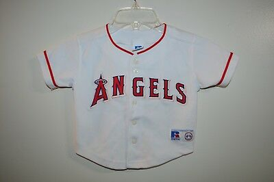 2d466b12 Vintage Russell Authentic Anaheim Los Angeles Angels Toddler Pink Trim  Jersey 2T