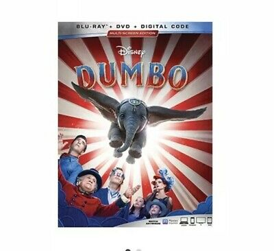 DUMBO (2019) Bluray Dvd Digital Plus Lithograph No Points