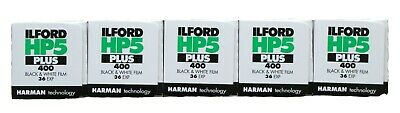 Ilford HP5 Plus 35mm 36 Exp B+W Film Pack of 5