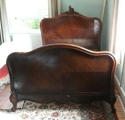 Antique French Louis style rosewood double bed. Seventh Heaven. Includes base