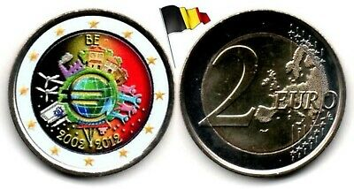 Belgique - 2 Euro 2012 (10 years of Euro - Color)