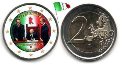 Italie - 2 Euro 2018 (70 years of the Constitution - Color)