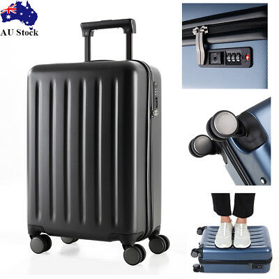 "20"" Lightweight Travel Luggage Suitcase Trolley Set TSA Lock Carry On Bag Case"