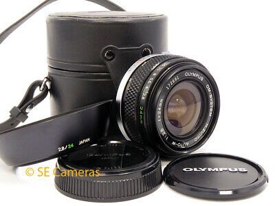 Olympus Om H Zuiko Auto W 24Mm F2.8 Fast Wide Angle Lens *Excellent Condition*