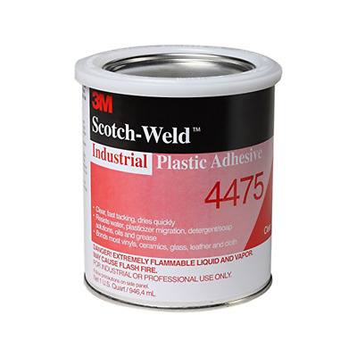 3M™ Industrial Plastic Adhesive 4475, Clear, 1 Quart Can