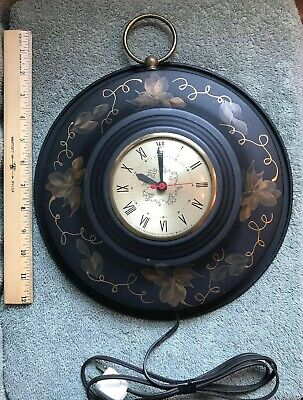 Vintage Wall Clock , Movement by Sessions Plug in Electric