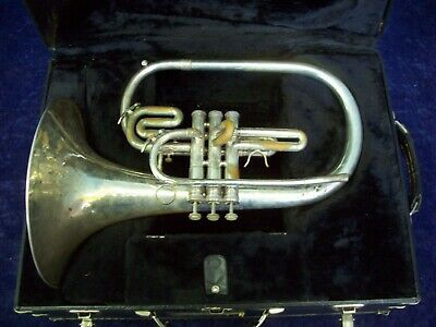 Quality! Signature By Deg Usa Silver Marching Mellophone + Case