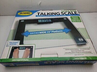 Ideaworks JB5824 Extra Wide Talking Scale-Visual/Voice Display Scale- 550LB Max
