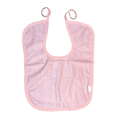 Adult Disability Bib Mealtime Dining Cloth Protector Apron Waterproof - Pink