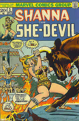 BLOWOUT SALE!  SHANNA THE SHE - DEVIL VINTAGE 1973 BRONZE AGE VG+ selectvintage