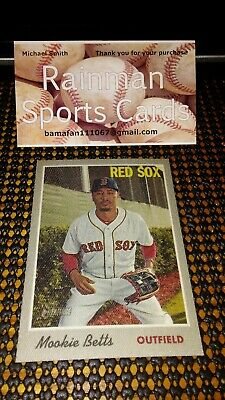 Mookie Betts Boston Red Sox 2019 Topps Heritage # 6/15 Cloth Sticker