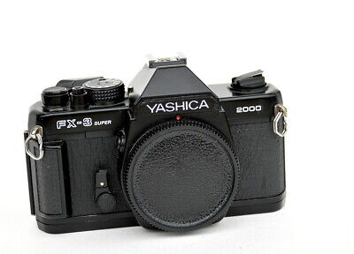 YASHICA FX-3 SUPER 2000  FILM CAMERA KYOCERA BODY in VG CONDITION – TESTED Zeiss