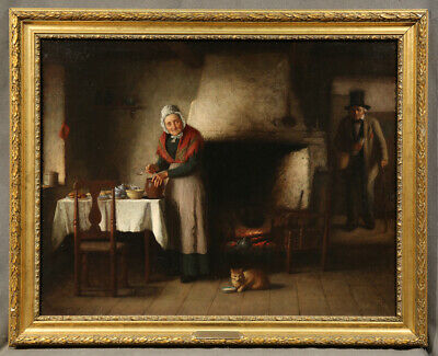 Oil Painting signed Platt Powell Ryder (AMERICAN, 1821–1896) An Elderly Couple