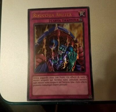 Yugioh Italian Skill Drain TU08-EN001 IT001 Ultra Rare NM