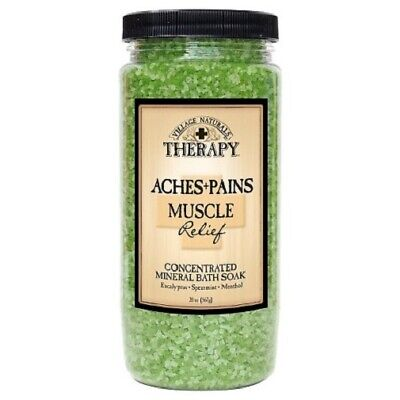 Village Naturals Therapy Aches and Pains Mineral Bath Soak Muscle Relief