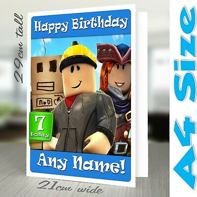 ROBLOX BIRTHDAY CARD - Personalised Any name, age, relation gaming