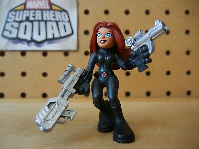 Marvel Super Hero Squad BLACK WIDOW Two Guns Variant from Avengers Wave 3-Pack