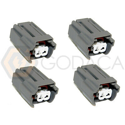 4X CONNECTOR 2-WAY 2 pin for Toyota Fuel Injector 90980-11875 w/out