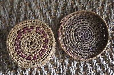 Small Vintage Native American Indian Basket with Lid