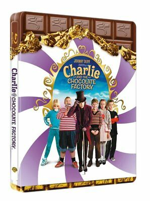 Charlie and the Chocolate Factory (Blu-ray Steelbook) BRAND NEW