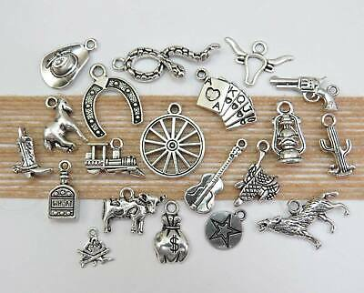 WILD, WILD, WEST Charm Collection, Set of 20 Different Charms, Lot US Seller