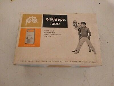 Cool Tested PlayTape 1200 2 track Cartridge Mono Tape Player Pre Cassette NOS