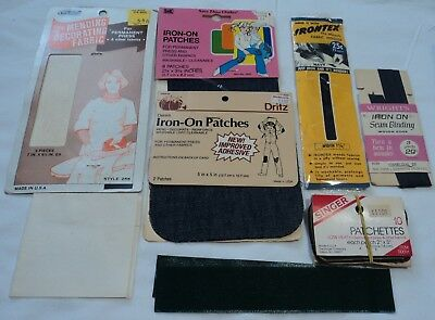 Vintage  Sewing  Iron On  Tape / Patches  Lot