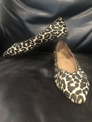 754436fd087c Vionic Caballo Calf Hair Leopard Print Pointed Toe Ballet Flats- Size 9.5