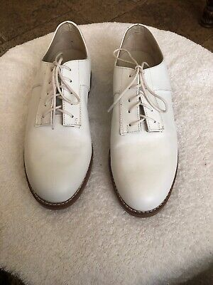 """Vintage HEAD """"Commendation"""" Bright White Leather Golf Shoe 7.5"""