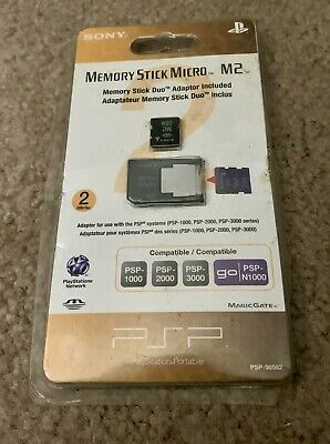 SONY PSP Go 2GB Memory Stick Micro Media + M2 Duo Adaptor