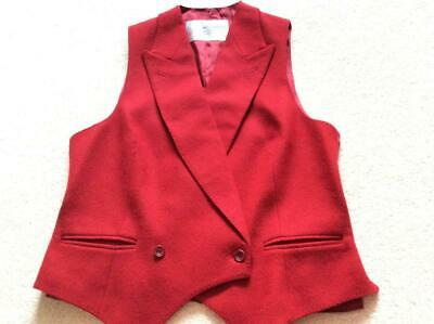 Women S Vintage 1970 S 80 S Austin Reed Red Wool Tweed Waistcoat Uk 10 30 00 Picclick Uk