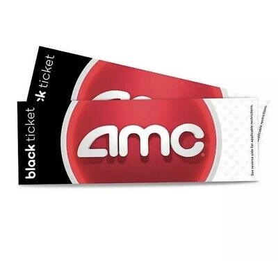AMC  Black Movie Tickets (Paper Tickets, 4 Pack, No Expiration) Free shipping