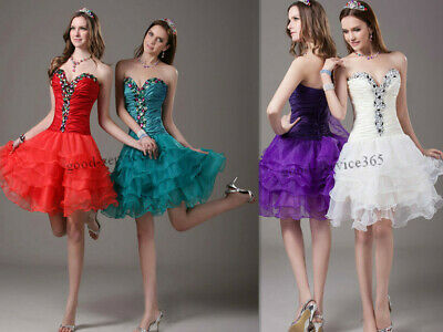 Stock Short Formal Prom Cocktail Ball Evening Party Mini Dresses Homecoming Gown