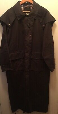 8c352461f OUTBACK TRADING CO. Oil Skin Long Stockman Duster Leather Collar ...
