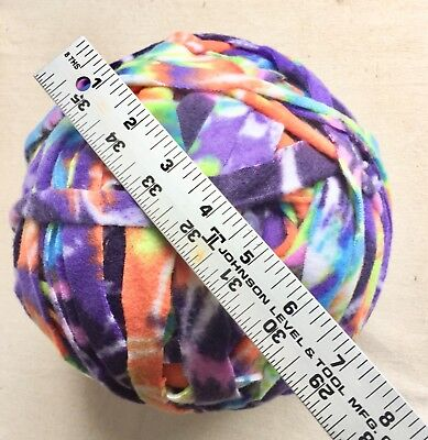 Fleece Yarn Fabric Strips Bright Colors Hand Cut 120yds