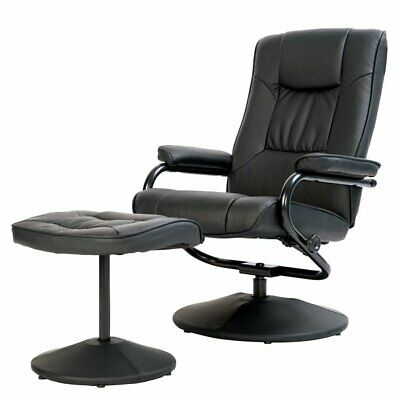 Executive Recliner Arm Chair Swivel Armchair Lounger Seat w/ Footrest Foot Stool