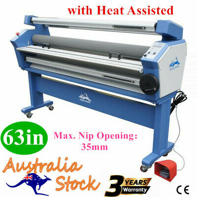 """AU Full-auto Single Side Wide Format Hot/Cold Laminator Laminating wth 67"""" Stand"""