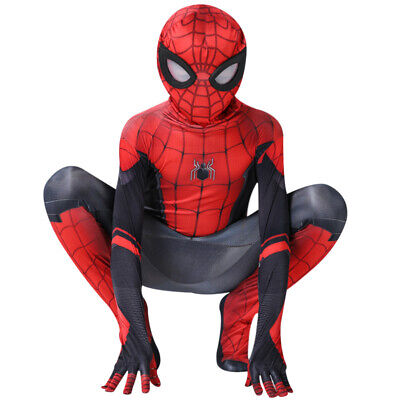 Spider-Man: Far From Home Halloween Cosplay Costumes 3D Zentai For Kid Suit New