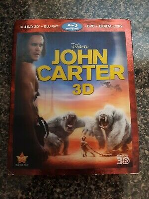 John Carter (Blu-ray/DVD, 2012, 4-Disc Set, Includes Digital Copy 3D/2D)