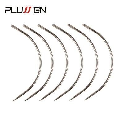 Plussign Hot Sell 12Pcs/Lot C Shape Curved Needles With Smooth Surface Wig