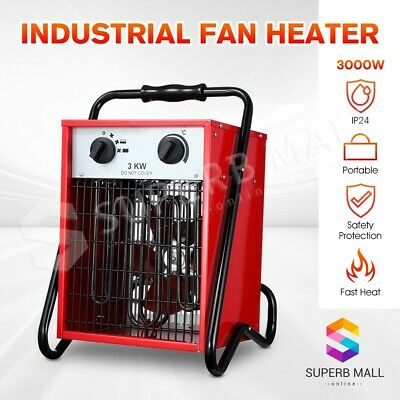 Portable Electric Industrial Fan Heater Air Blower Home Fast Heating 3000W