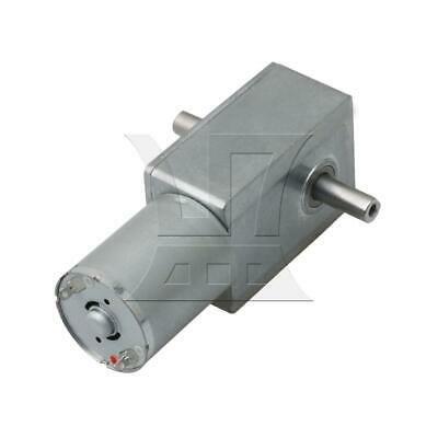 New Silver Metal 12V High Torque Turbo Worm Reducer Geared Motor DC Motor JGY370