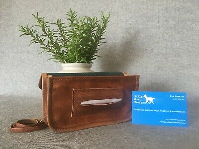 Leather Tobacco Pouch Wallet WTP-PZ 50gm Papers Zip Handmade Billy Goat Designs