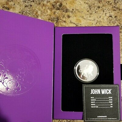 John wick 1 oz silver proof continental coin - Limited mintage of only 100!!!