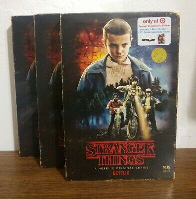 Stranger Things Season 1 Collector Edition 4 Blu-Ray+ DVD SET (Target Exclusive)