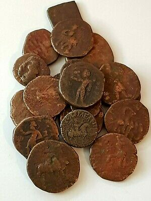 Stunning Lot Of 20 Ancient Indo Greek Bronze Coins Rare Mints.very Interest.