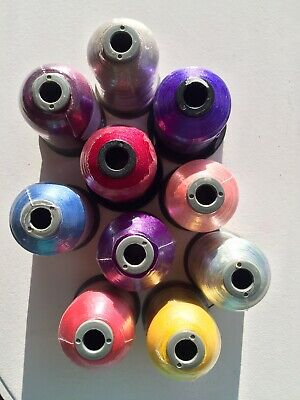 Embrodery Machine Threads 10 Mixed Colours...all New